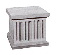 fluted base block